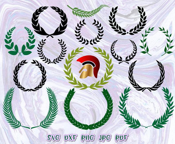 Laurel Wreath Vector Clipart SVG File for Cricut