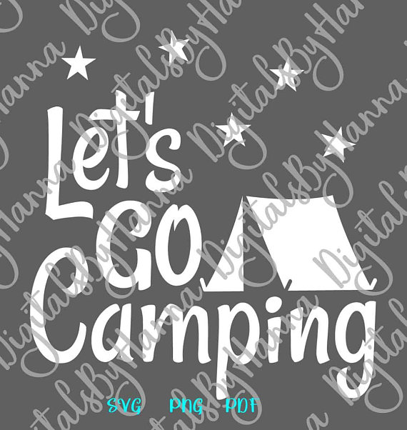 Let's Go Camping Décor Scrapbook Ideas Files for Laser