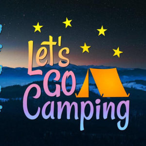 Let's Go Camping Vector Clipart SVG Files for Cricut