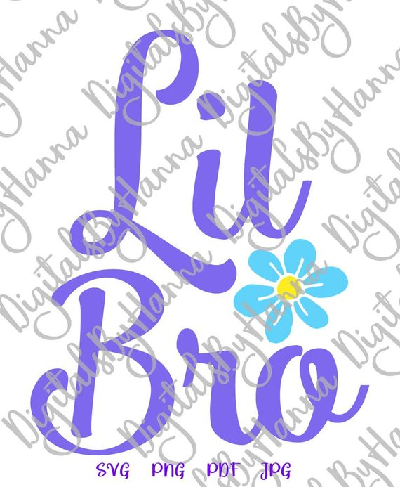 Little Bro Vector Clipart SVG File for Cricut