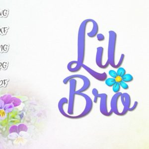 Little Brother SVG Files for Cricut Vector Clipart