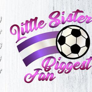 Little Sister Soccer SVG Girl Sport Vector Clipart
