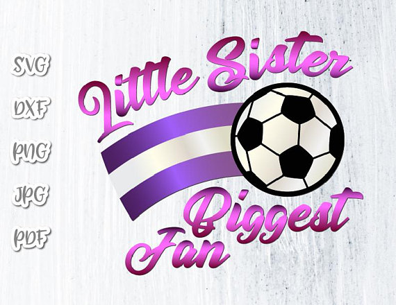 Little Sister Soccer SVG Girl Sport Vector Clipart