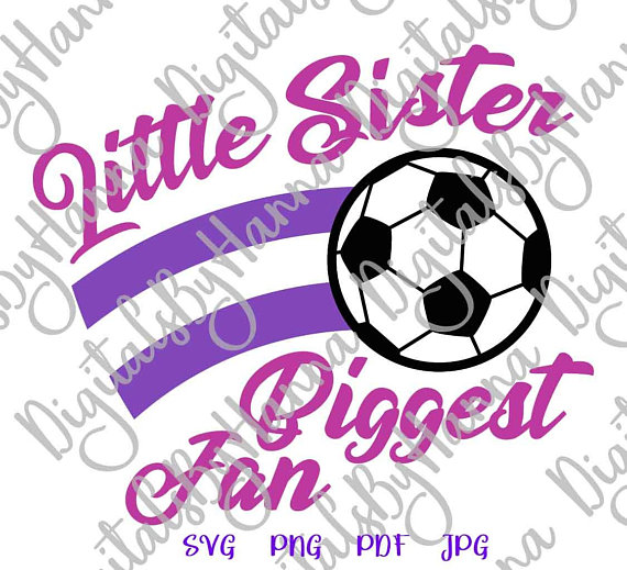 Little Sister Soccer Sport Vector Clipart SVG File for Cricut