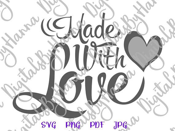 Made with Love Cuttable Shirt Decal Heat HTV Cutting