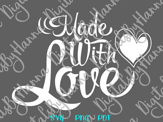 Made with Love Scrapbook Ideas Files for Laser Shirt