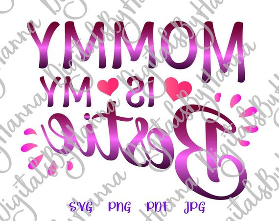 Mamas Bestie SVG Cutter Visual Arts Stencil Maker