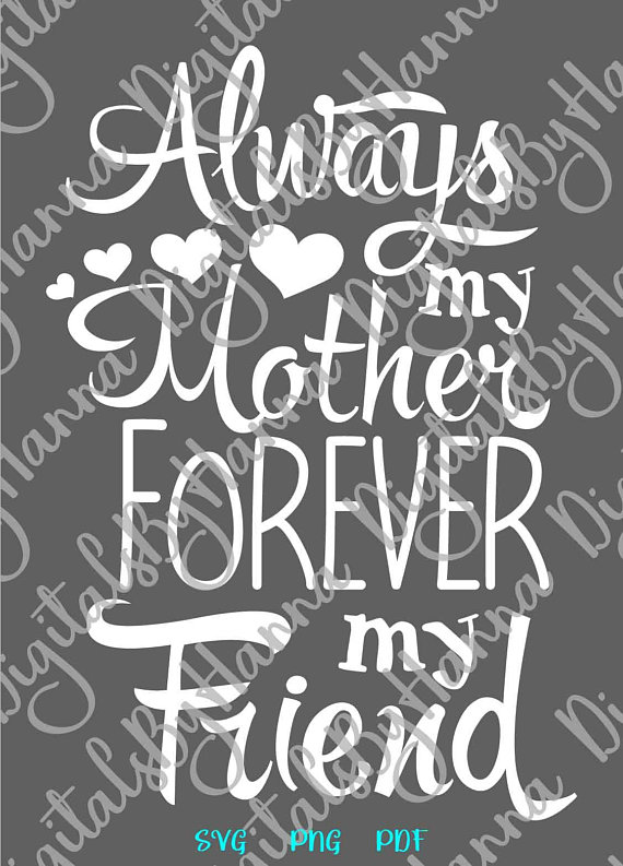 Mamas Bestie Vector Clipart SVG File for Cricut