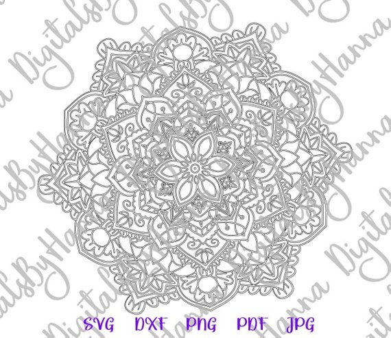 Mandala Cuttable Shirt Decal Heat HTV Cutting