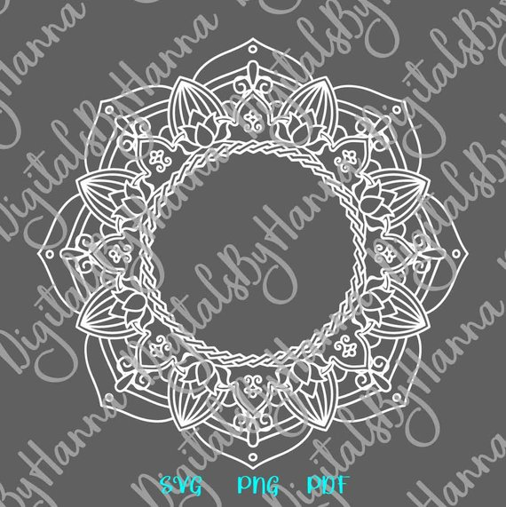 Mandala Monogram Circle Decal Woman Tumbler