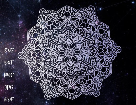 Mandala SVG Files for Cricut Pochoir Stencil Zentangle