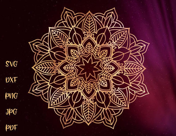 Mandala SVG Files for Cricut Zentangle Vector Clipart