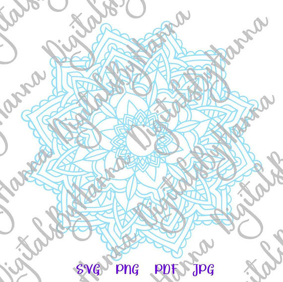 Mandala SVG Neon Light Scrapbook Ideas Files for Laser Shirt