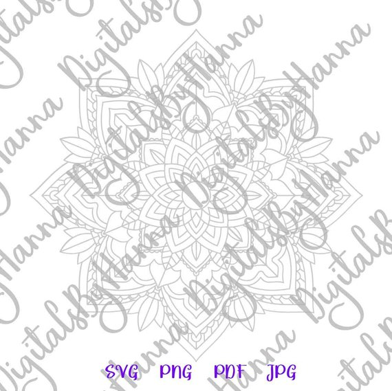 Mandala SVG Scrapbook Ideas Files for Laser Shirt Clipart
