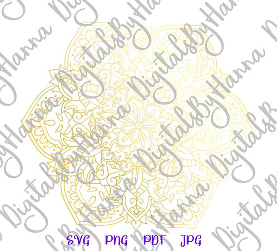 Mandala SVG Scrapbook Ideas Files for Laser Shirt