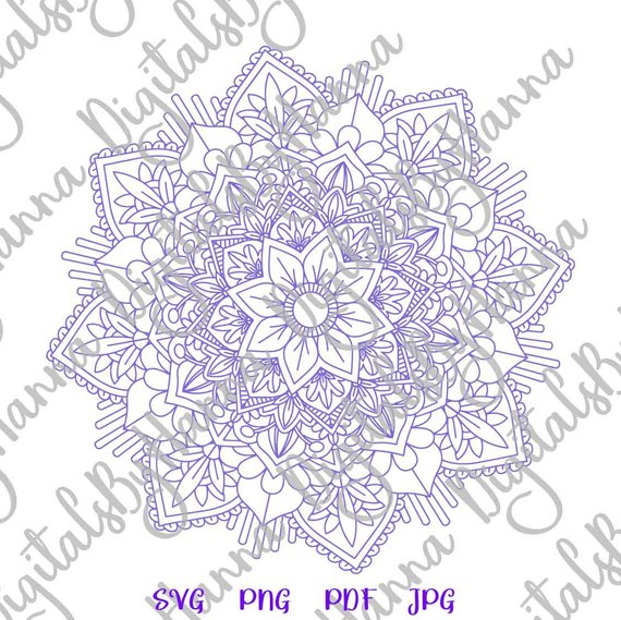 Mandala SVG Scrapbook Ideas Files for Laser T-Shirt Clipart