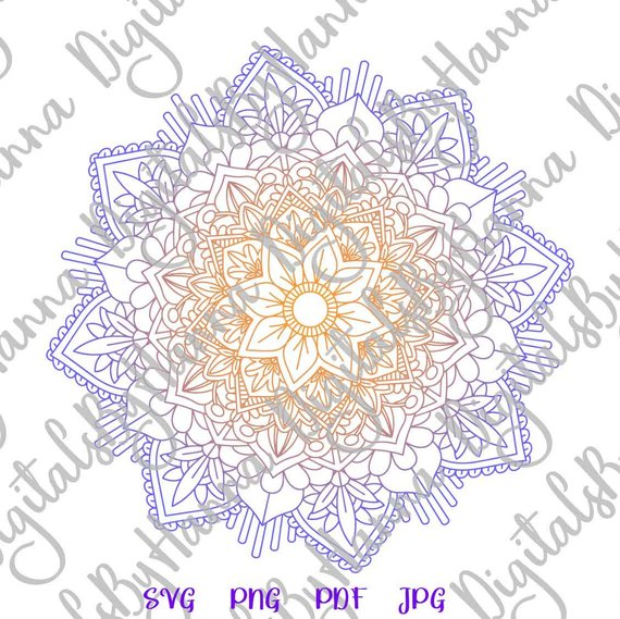 Mandala SVG Zentangle SVG Silhouette DXF Stencil Clipart Gift