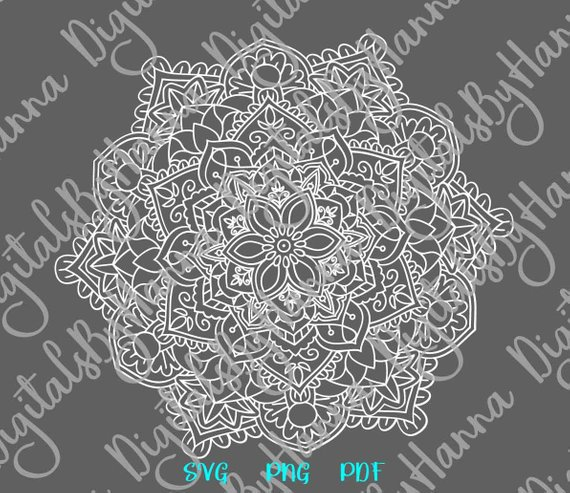 Mandala Scrapbook Ideas Files for Laser Shirt