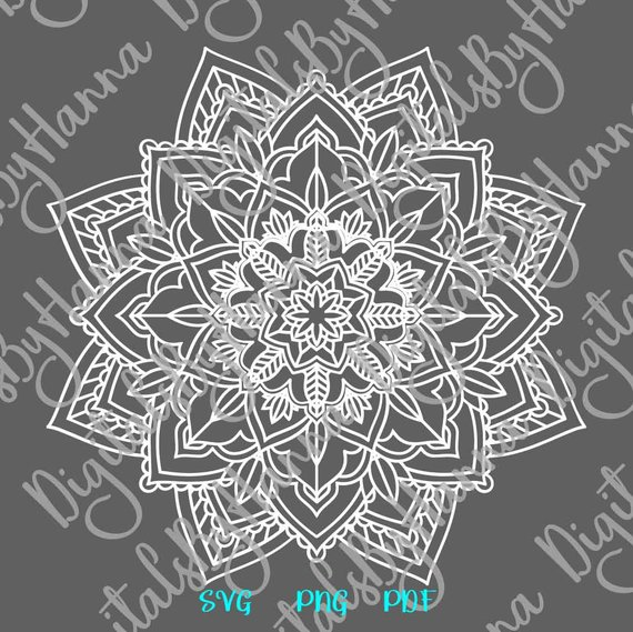 Mandala Zentangle Silhouette Vector Clipart Pochoir SVG