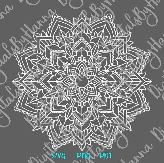Mandala Svg Files For Cricut Zentangle Vector Clipart