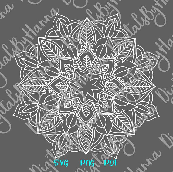 Mandala Zentangle Vector Clipart Pochoir SVG Stencil