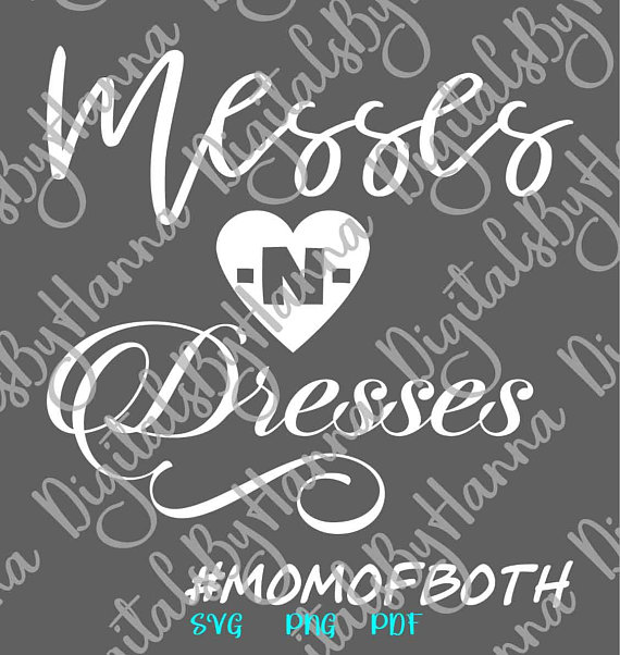 Messes and Dresses Scrapbook Ideas Files for Laser Shirt