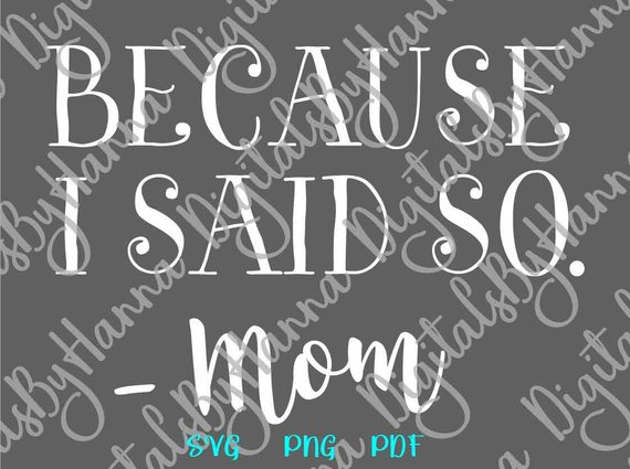 Mom Life Vector Clipart SVG File for Cricut