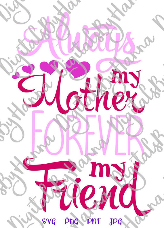 Mom and Me Vector Clipart SVG File for Cricut