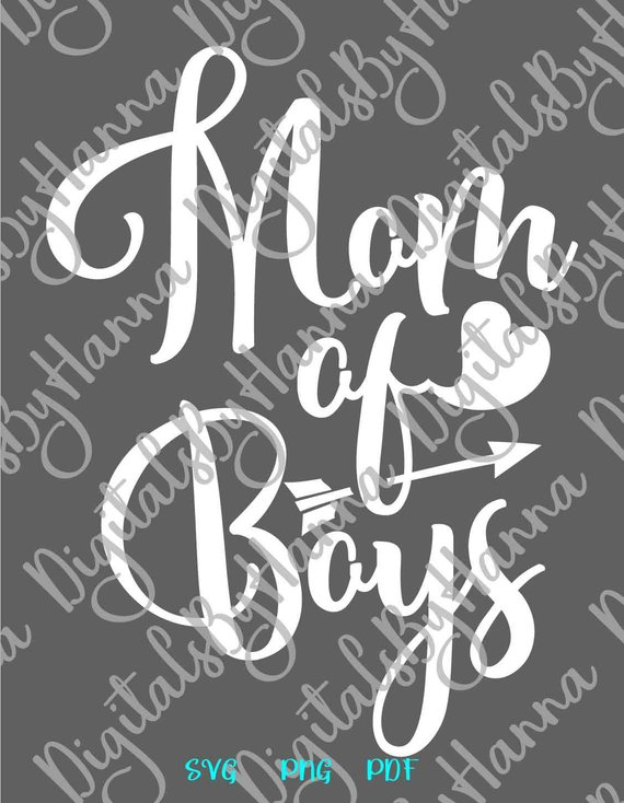 Mom of Boys Momlife Scrapbook Ideas Files for Laser Shirt