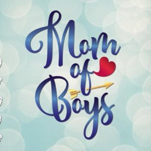 Mom of Boys Vector Clipart Momlife SVG File for Cricut