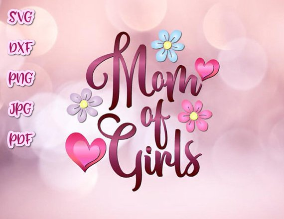 Momlife SVG Mom of Girls Vector Clipart