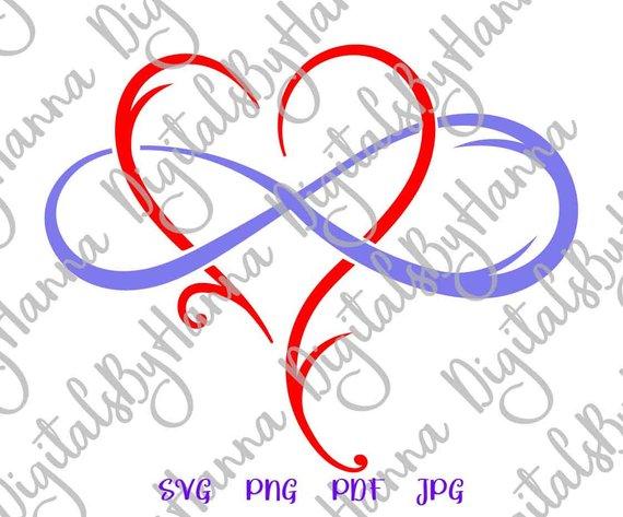 Mother and Daughter Symbol Heart Sign Emblem
