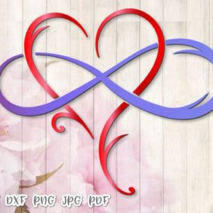 Mother and Daughter is Forever SVG Files for Cricut Infinity Symbol