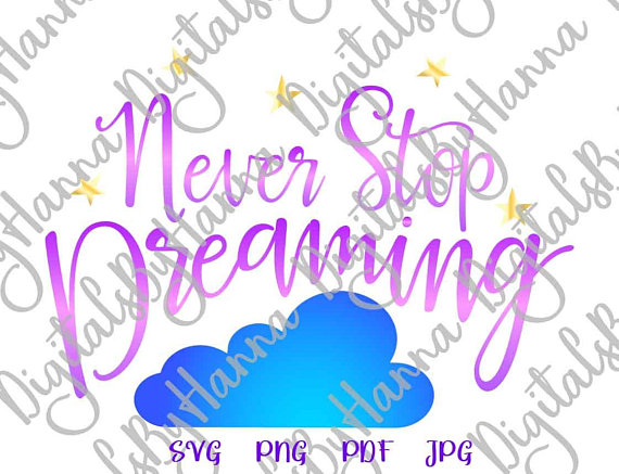 Never Stop Dreaming Cutter Visual Arts Stencil Maker Papercraft