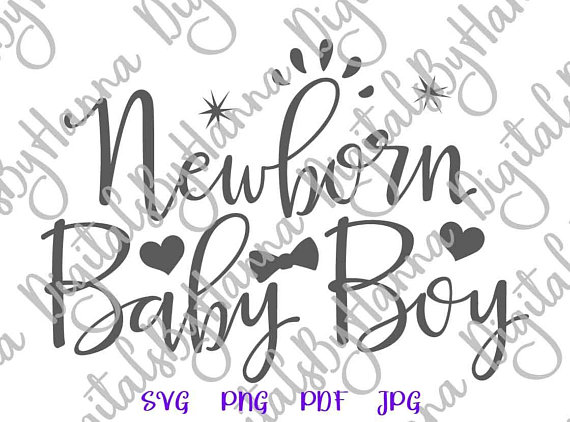 Newborn Baby Boy Cuttable Shirt Decal Heat HTV Cutting