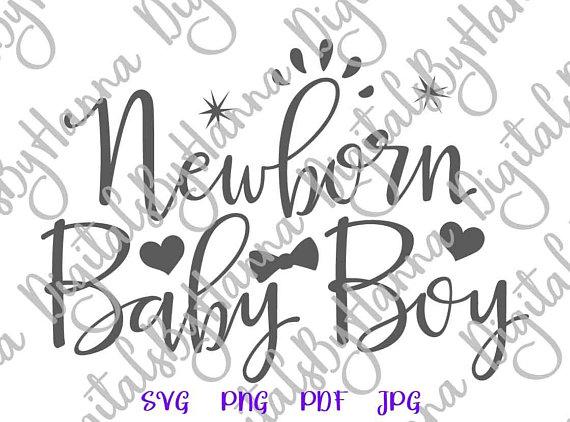 Newborn Baby Boy Cuttable Shirt Decal Heat HTV Cutting