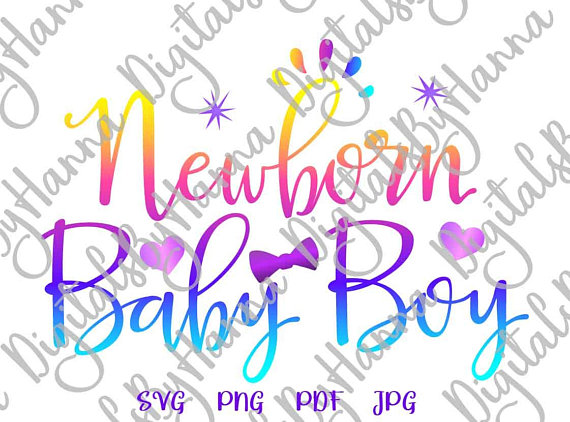 Newborn Baby Boy DIY Instant Download Die Cut Iron on Vinyl