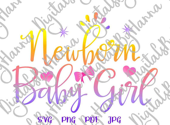 Newborn Baby Girl DIY Instant Download Die Cut Iron on Vinyl