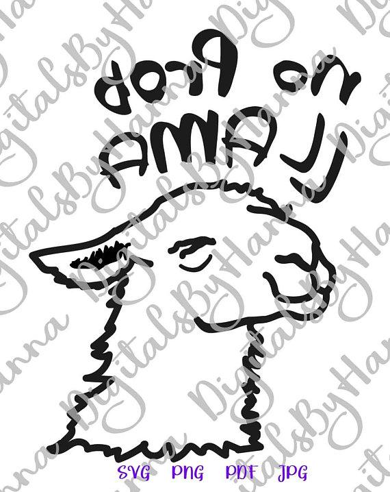 No-Prob Llama SVG Clipart Drama Llama Shirt
