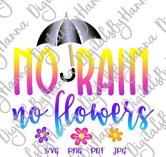 No Rain No Flowers Visual Arts Stencil Maker Papercraft