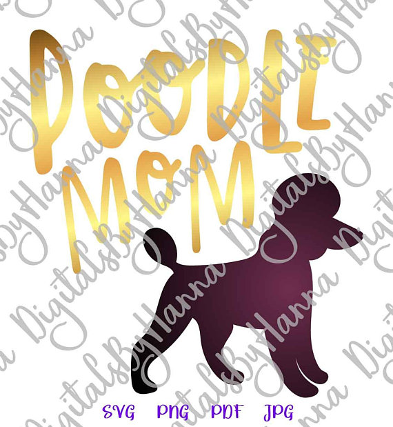 Poodle Mom Cutter Visual Arts Stencil Maker Papercraft