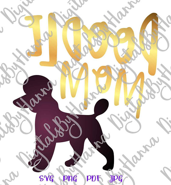 Poodle Mom DIY Instant Download Die Cut Iron on Vinyl Card Making