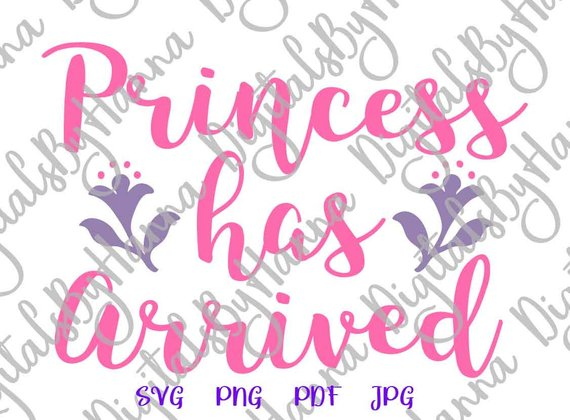 Princess Has Arrived DIY Die Cut Iron on Vinyl Card Making
