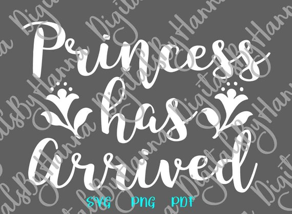 Princess Has Arrived New Baby Files for Laser Shirt