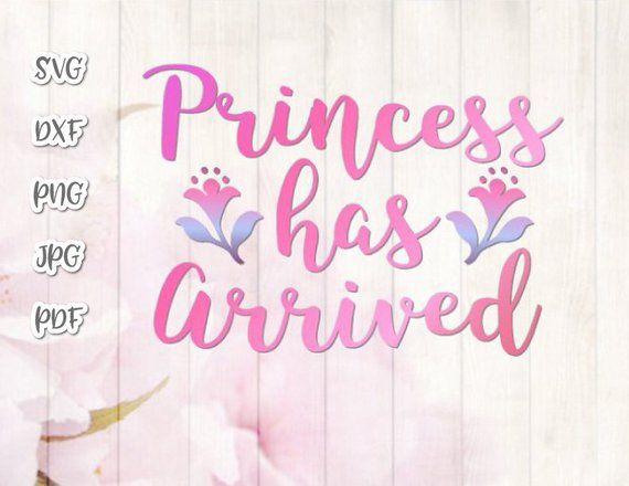 Princess Has Arrived SVG Baby Girl Vector Clipart