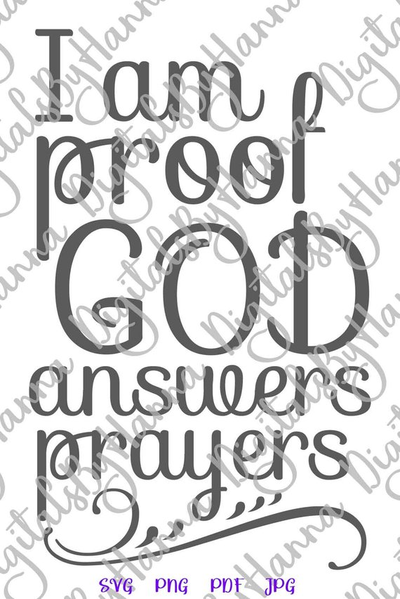 Proof God Answers Prayers Cuttable Shirt Decal Heat Cutting