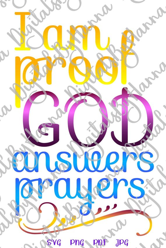 Proof God Answers Prayers New Baby SVG File for Cricut