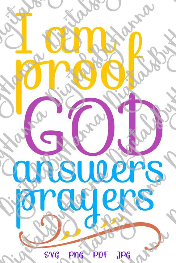 Proof God Answers Prayers Rainbow Baby Vector Clipart