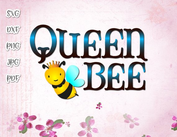 Queen Bee Vector Clipart SVG File for Cricut