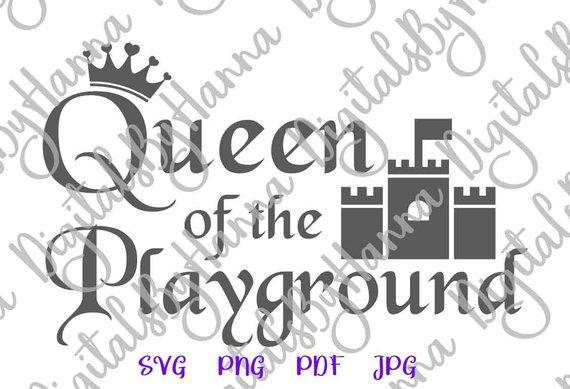 Queen Playground Cuttable Shirt Decal Heat HTV Cutting
